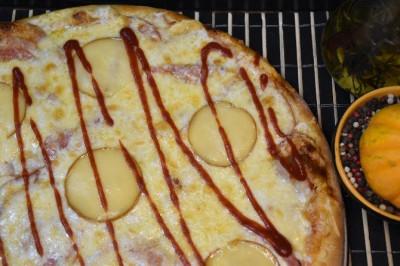 Пицца Барбекю (тонкое тесто)