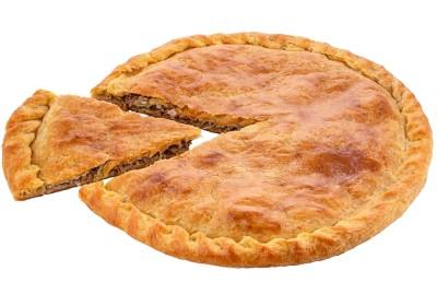Пирог с мясом и тушёной капустой 850г.