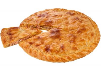 Пирог с курицей, сыром и зеленым луком 1300г.