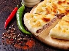 Пирог с мясом, сыром и грибами 850г.