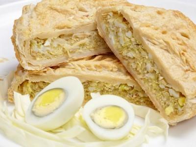 Пирог с капустой и яйцом 1300г.