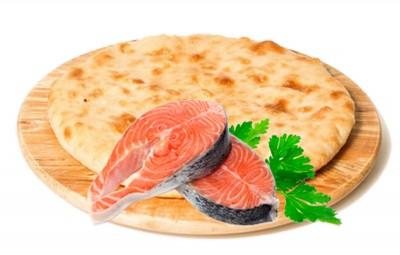 """Пирог """"Камчатский"""" с картофелем и лососем 1300г."""