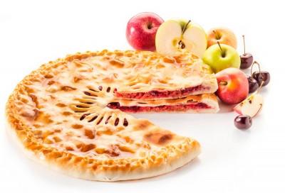 Пирог с яблоком и вишней 1300г.