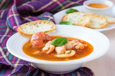 Суп Сливочный с креветками и гренками