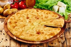 Пирог с курицей,  картофелем и грибами 850г.