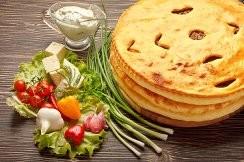 Пирог с беконом, помидорами и моцареллой 1300г.