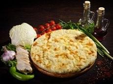 Пирог с ветчиной сыром и овощами 1300г.