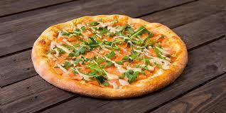 Pizza с Сёмгой малосоленой (тонкое тесто)