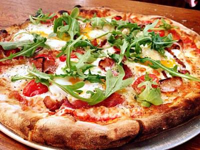 Пицца Грибная с вялеными томатами (пышное тесто)